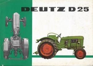 Deutz D 25 Dieselschlepper Prospekt 3.1961