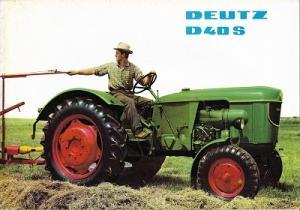 Deutz D 40 S Dieselschlepper Prospekt 4.1964