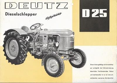 Deutz D 25 Dieselschlepper Prospekt 4.1959