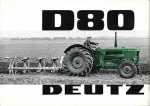 Deutz D 80 Dieselschlepper Prospekt 5.1964
