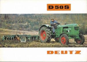 Deutz D 50 S Dieselschlepper Prospekt 2.1964