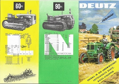 Deutz Dieselschlepper Programm 9.1958