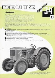 Deutz 33 PS Dieselschlepper Prospekt 8.1956