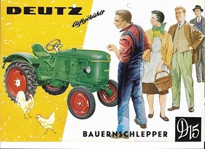 Deutz D 15 Dieselschlepper Prospekt 2.1959