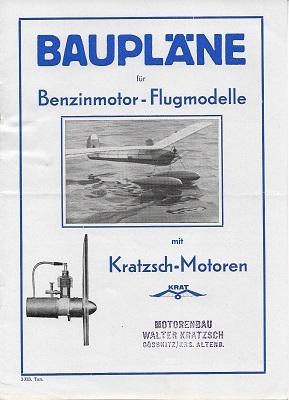 Kratzsch Motoren / Flugmodelle 4 Prospekte 1942