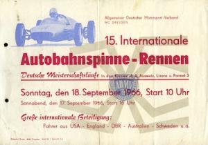 Kleinplakat Autobahnspinne Dresden 18.9.1966