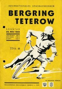 Programm 46. Teterower Bergringrennen 29.5.1966