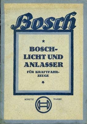 Bosch Licht und Anlasser für Kraftfahrzeuge 5.1926