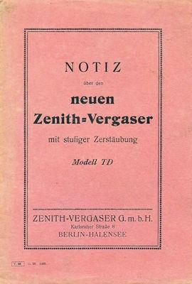 Zenith Vergaser Modell TD 11.1923