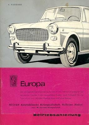 NSU-Fiat Europa / 1100 D Bedienungsanleitung 7.1963