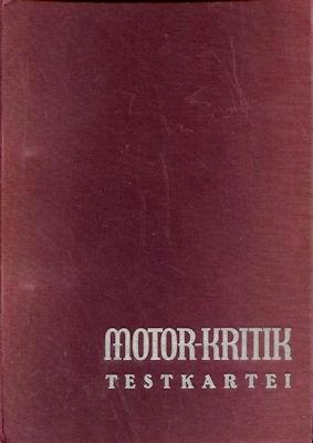 Motor-Kritik Testkartei 1930er Jahre