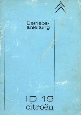 Citroen ID 19 Bedienungsanleitung 11.1964