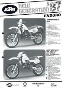 KTM Enduro Programm 1987