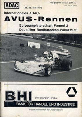 Programm AVUS 22./23.5.1976