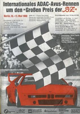 Programm AVUS 10./11.5.1980