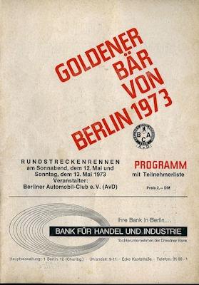 Programm AVUS 12./13.5.1973