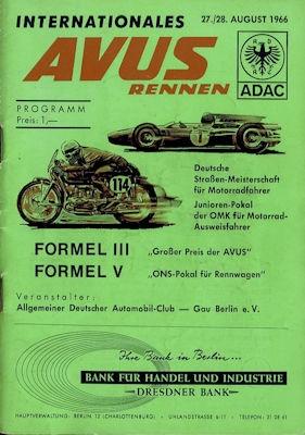 Programm AVUS 27./28.8.1966