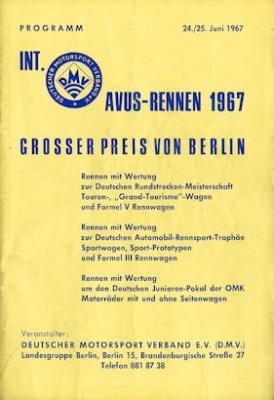 Programm AVUS 24./25.6.1967