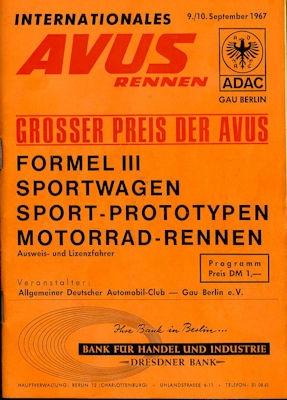 Programm AVUS 9./10.9.1967