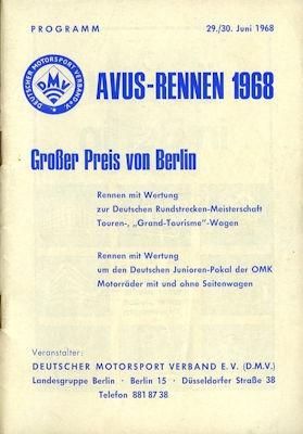 Programm AVUS 29./30.6.1968