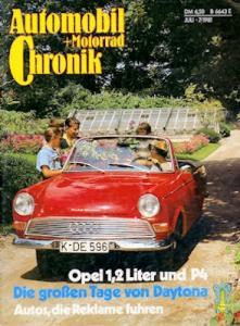 Automobil und Motorrad Chronik 1981 Heft 7