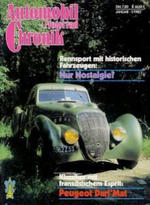 Automobil und Motorrad Chronik 1982 Heft 1