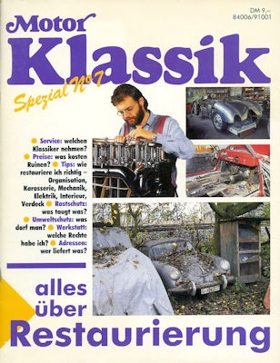 Motor Klassik Spezial No. 7 Restaurierung ca. 1991
