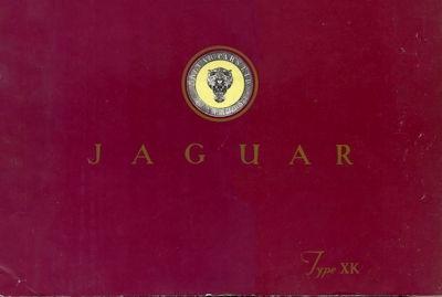 Jaguar XK 120 Prospekt ca. 1950 e