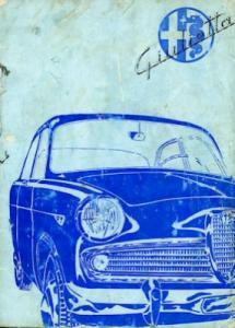 Alfa-Romeo Giulietta Bedienungsanleitung 11.1961