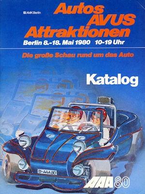 Programm Autos AVUS Attraktionen 8.-18.5.1980