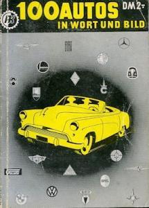 Motorkatalog 100 Autos Band 2 1952