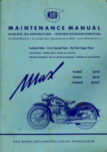 NSU Max Reparaturanleitung ca. 1955 efnl