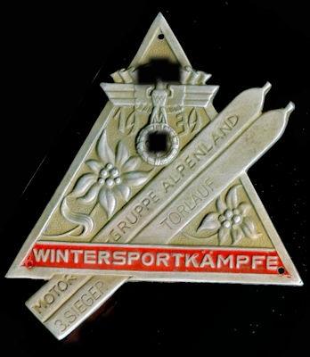 Plakette NSSK Wintersportkämpfe 1939