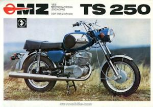 MZ TS 250 Prospekt 1975