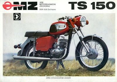 MZ TS 150 Prospekt 1975