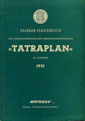 Tatra Tatraplan Bedienungsanleitung 1951