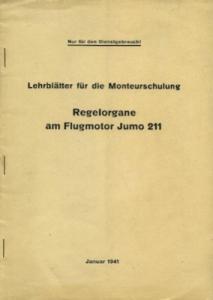 Junkers Regelorgane am Flugmotor Jumo 211 1.1941