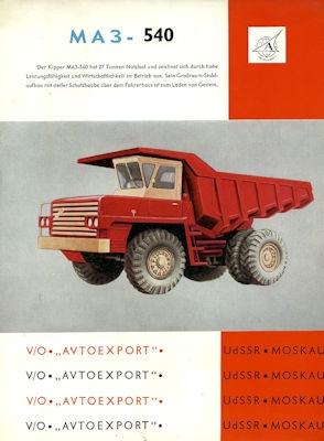 Avtoexport Lkw MAS-540 Prospekt 1970er Jahre