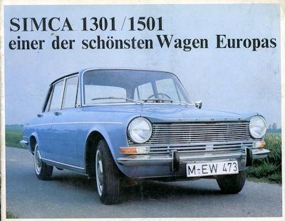 Simca 1301 1501 Prospekt ca. 1967