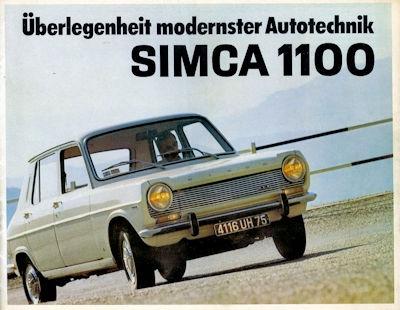 Simca 1100 Prospekt ca. 1967