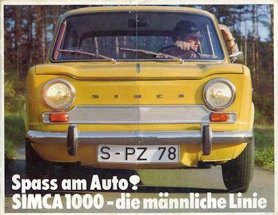 Simca 1000 Prospekt ca. 1967
