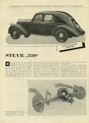 Steyr 220 Super Test 1937