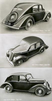 Steyr 100 3 originale Werksfotos ca. 1935