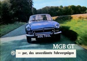 MG B GT Prospekt 1960er Jahre