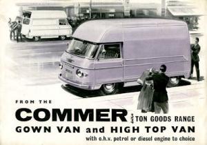 Commer 0,75 to Lieferwagen Prospekt 1960er Jahre