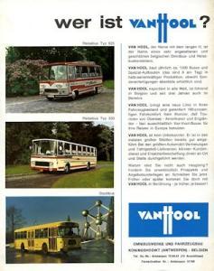 VanHool Busse und Anhänger Prospekt ca. 1970