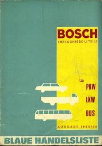 Bosch Blaue Handelsliste Teil 1-3 in 2 Bänden 1965/66
