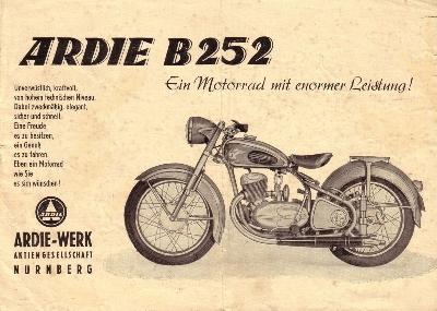 Ardie B 252 Prospekt 1952