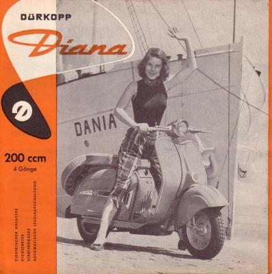 Dürkopp Diana 200 ccm Prospekt 2.1957