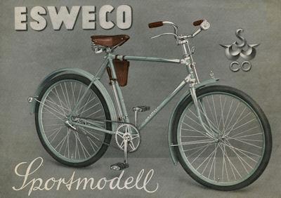 Esweco Sportmodell Fahrrad Prospekt 1937